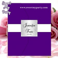 Wedding Pocket Folds Seals stickers silver diamonds,Sparkle Silver Personalized Wedding envelope seals,Diamonds favor tags,(015w)