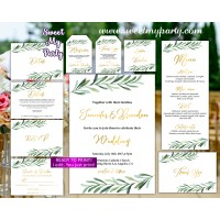 Greenery Wedding Invitation set,Eucalyptus Wedding invitation set, (78)