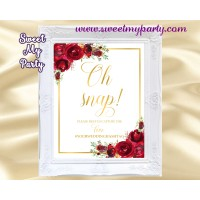 Red roses oh snap Sign,Red roses hashtag sign,(16w)