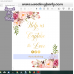 Floral hashtag sign template,Gold hashtag sign template, (31i)