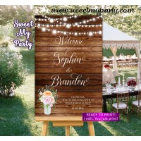 Rustic Wedding Welcome Sign,Country Wedding Welcome sign,(28w)