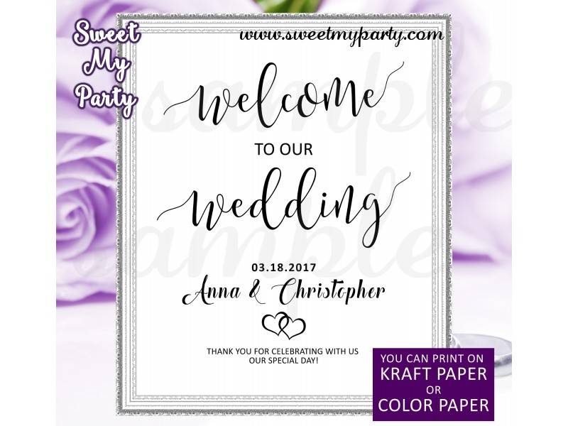 Rustic Wedding welcome sign|Welcome to our wedding sign|Welcome ...