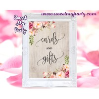 Boho Cards and gifts sign printable,Floral Cards and gifts sign,(31)