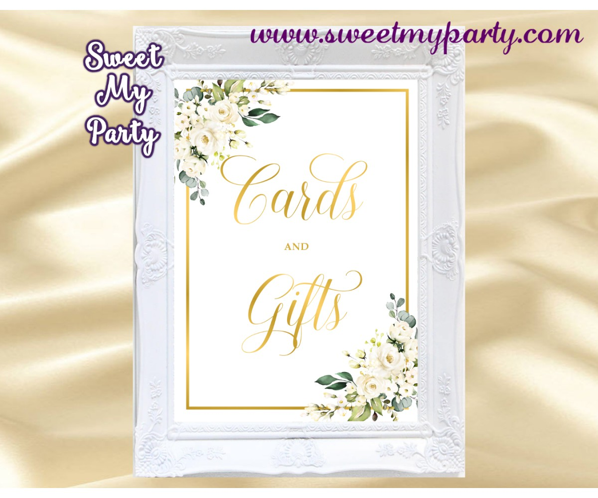Ivory Roses Cards and Gifts sign,Cream Roses Cards and Gifts sign, (123bw)