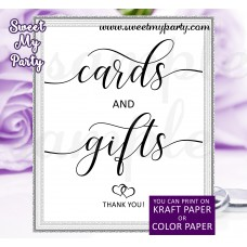 Rustic Wedding Cards and Gifts Sign, Wedding signs, (022w)