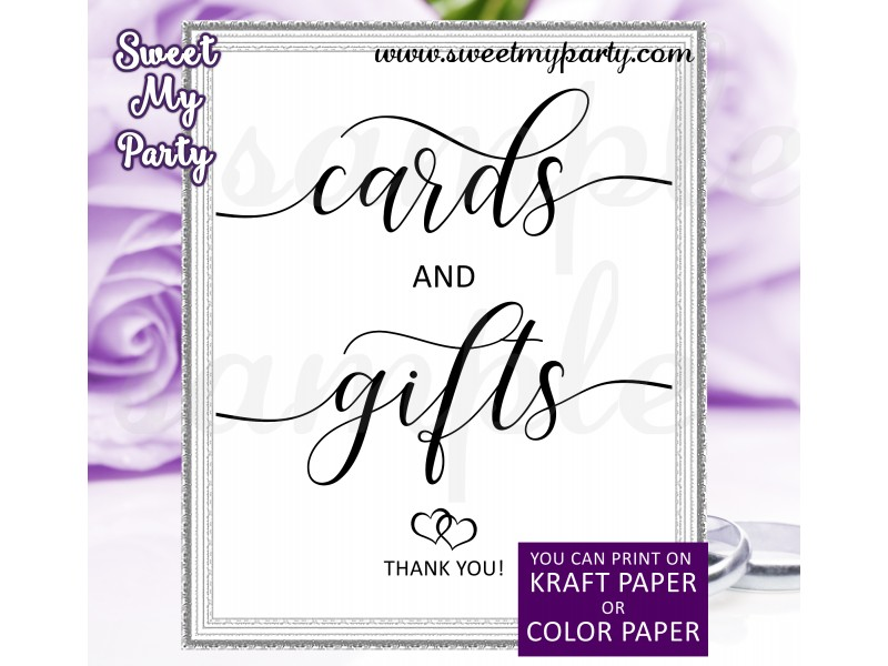 Rustic Cards And Gifts Wedding Sign Printable Calligraphy Cards And
