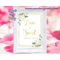 Ivory flowers love is sweet sign,Ivory flowers love is sweet sign,(123b)