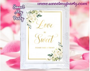 Cream flowers love is sweet sign,Ivory flowers love is sweet sign,(123b)