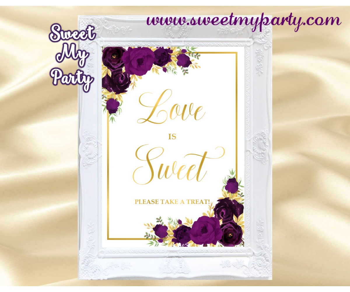 Eggplant love is sweet sign, Plum love is sweet sign, (19w)