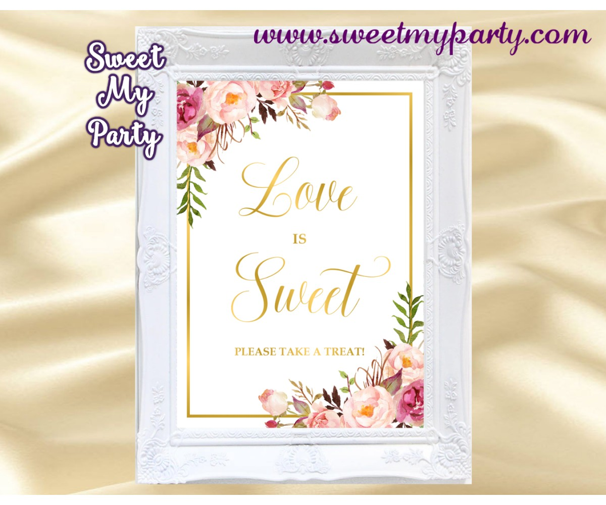 Blush love is sweet sign, Gold love is sweet sign, 31gw