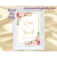 Floral love is sweet sign, Gold love is sweet sign, 31gw