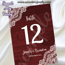 Rustic Wedding Table Numbers,Wood Lace Wedding Table Numbers,Vintage wedding Table Numbers,(017w)