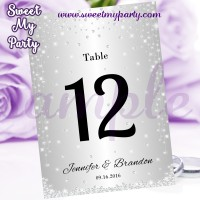 Silver Wedding Table Numbers,Diamonds Wedding Table Numbers,(015w)