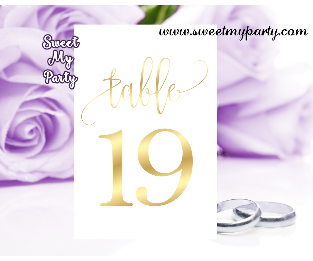 Gold Wedding Table Numbers: Gold Table Numbers Wedding