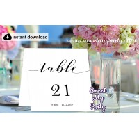 Modern Calligrapy Table Numbers printable,Calligraphy table Numbers template, (47)
