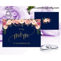 To my mom on my wedding day card, (055w)