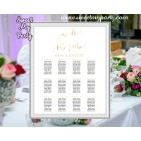 Wedding Gold Seating Charts,Wedding Seating Plan,Gold Wedding seating chart,(025w)
