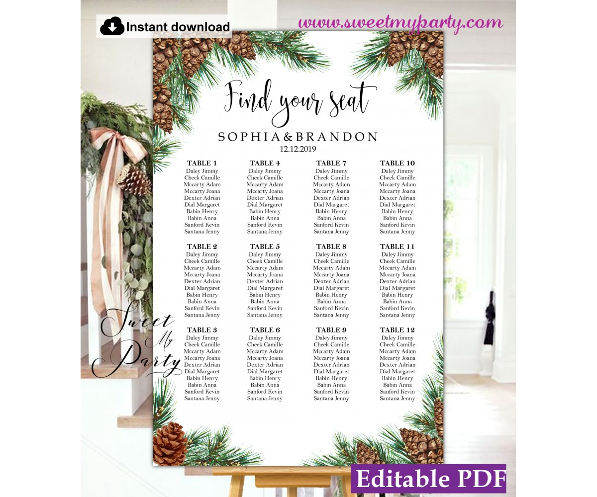 Wedding Seating Chart Template Wedding Table Plan Wedding Seating Plan Wedding Seating Chart Ideas Wedding Seating Plan Ideas Wedding Reception Seating Chart Seating Charts For Weddings Seating Arrangements For Wedding Sweetmyparty Com