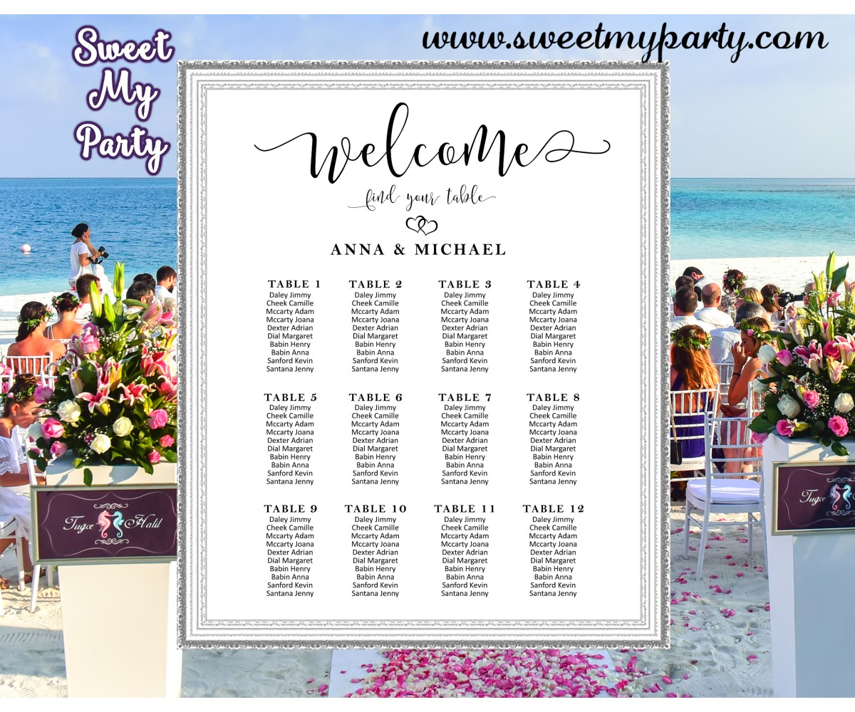 Rustic Wedding Seating Chart Ideas: Rustic Wedding Seating Chart