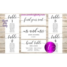Rustic Wedding Seating Chart template, Wedding Find Your Seat template,(051w)
