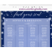 Snowflakes Seating Chart Template,Winter Wedding Seating Chart,(152)