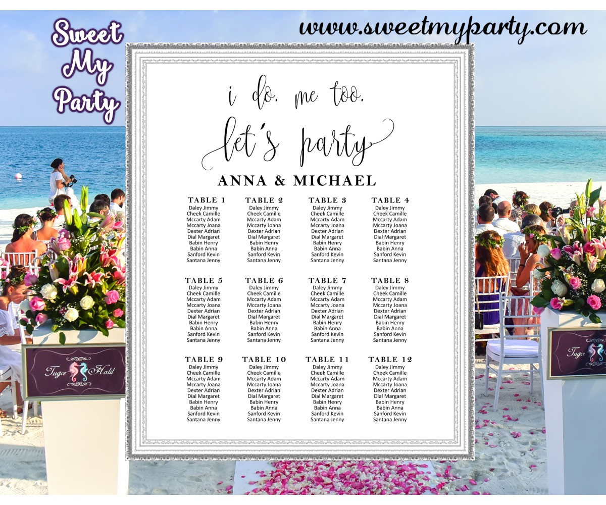 Rustic Wedding Seating Charts,Modern Wedding Seating Plan,(024w)