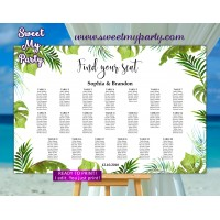 Tropical Seating Charts,Greenery Seating Plan,(113)
