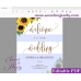 Sunflowers welcome sign template,wedding welcome sign,(143)
