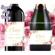Blush Wine Labels,Blush champagne labels,(31gw)