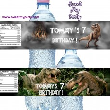 Dinosaur water bottle labels, (no.163,165 jurassic)