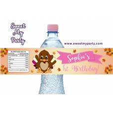 Turkey birthday water bottle labels,(001)