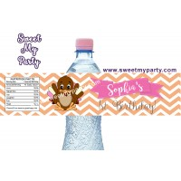 Turkey birthday water bottle labels,(002)