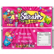 Shopkins candy bar wrappers, (1)