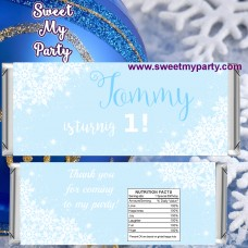 Winter Onederland candy bar wrappers,(7)