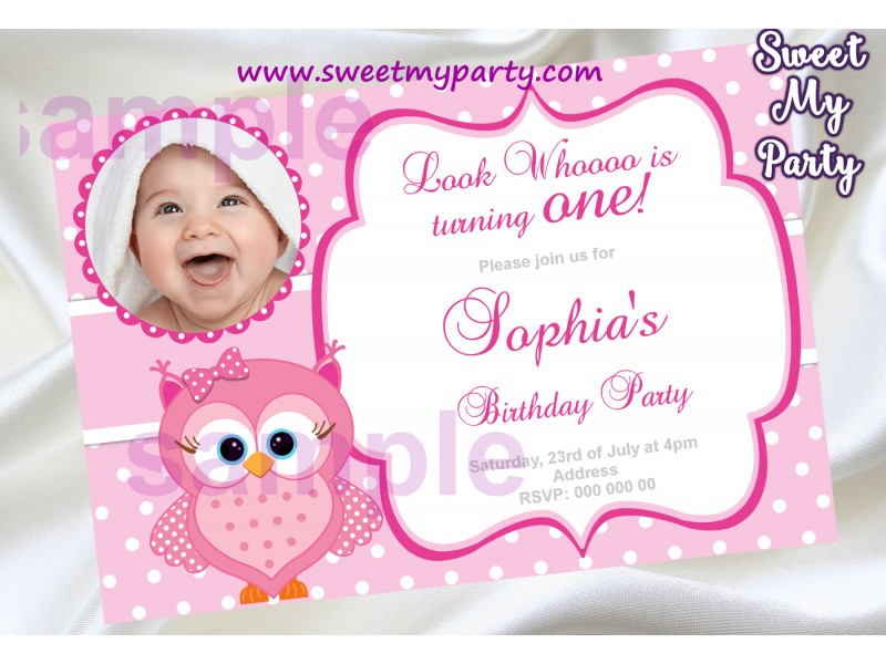 Pink owl birthday party invitation with photopink owl birthday pink owl birthday party invitation with photopink owl birthday party invite03ok filmwisefo