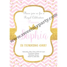 Pink and Gold Birthday Party Invitation,(003kidspag)