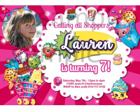 Shopkins birthday invitation,Shopkins invitation,(006s)