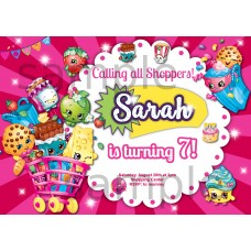 Shopkins birthday invitation,Shopkins invitation,(001s)