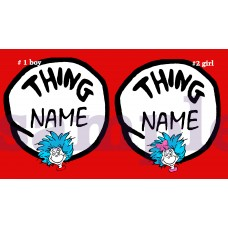 Thing 1 Thing 2 iron on transfer, Cat in the Hat iron on transfer,(6)