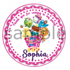 Shopkins thank you stickers,(2)
